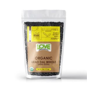 Organic Urad dal whole (Urad Gota)